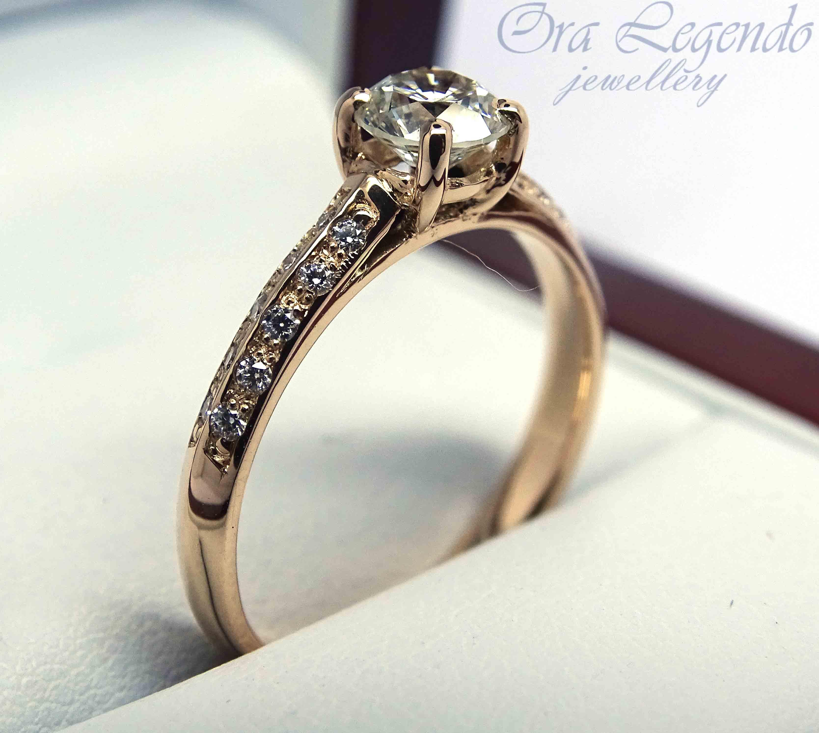 Помолвочное кольцо с бриллиантами 0,9 карат   Ora Legendo, Riga 85fee8261ea