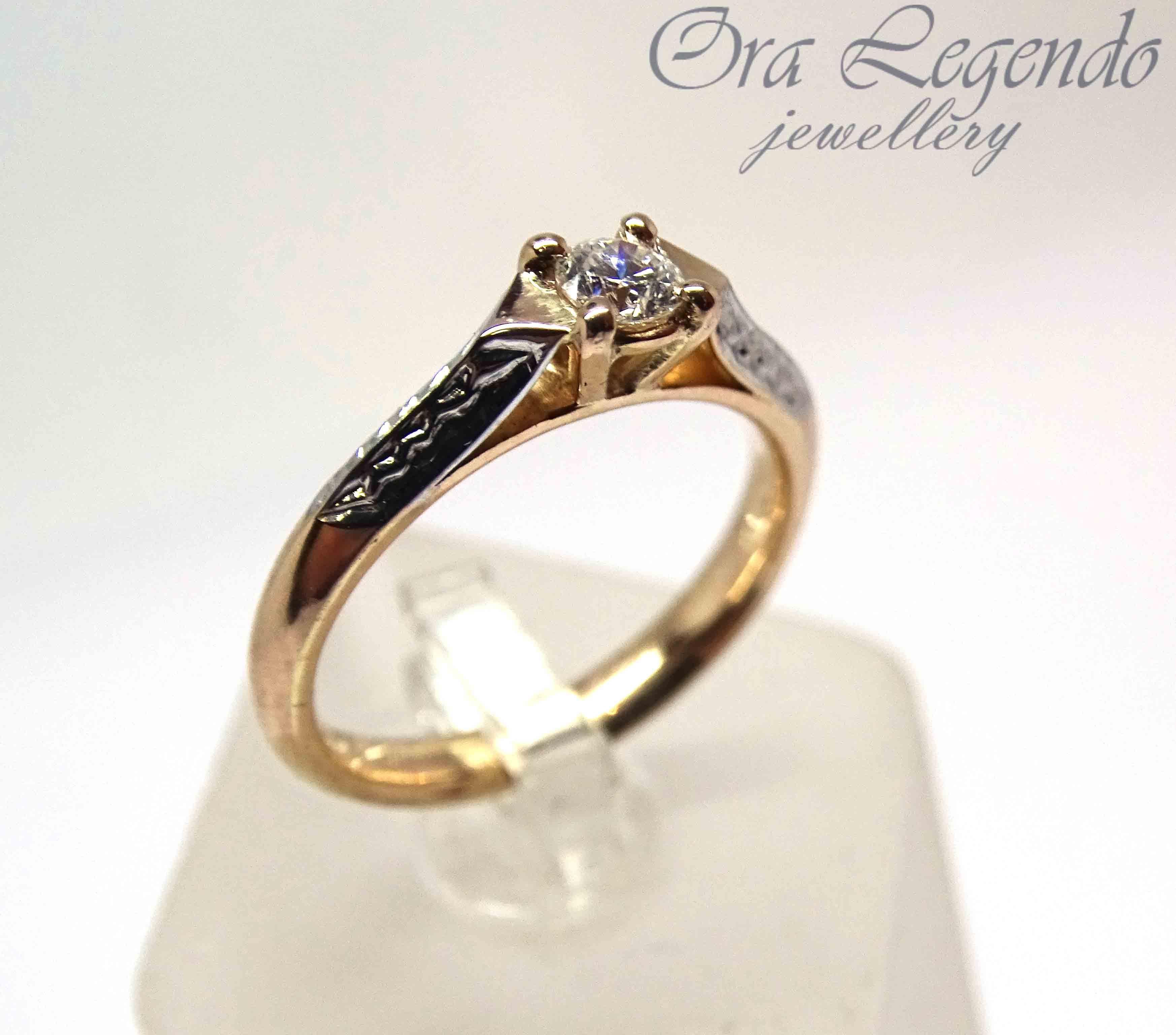 Помолвочное кольцо с бриллиантом 0,2 карата   Ora Legendo, Riga c41de733bff